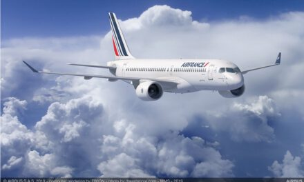 The first Airbus A220-300 is delivered to Air France